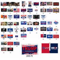 55 Stiller Donald Trump Bayrağı 90 * 150cm Joe Biden Seçim Bayrağı 2020 Amerikan Başkanı Amerika Büyük Parti Bayrağı ZZA2313 tutun