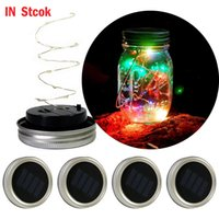 LED String Light Solar Powered Light Up Lid String Fairy Sta...