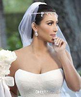 핫 세일 김 Kardashia 빛나는 크리스탈 라인 석 아름다운 웨딩 신부 웨딩 헤어 조각 액세서리 보석 왕관 진짜 Photoes