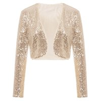 d089d03a Wholesale silver sequin bolero jacket for sale - High end customization  Luxurius lace Sequined Long sleev