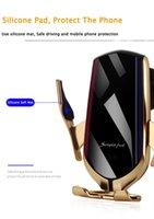 Détenteurs de téléphone Air Vent de charge rapide 360 degrés de rotation 10W R1 Chargeur de voiture sans fil automatique de serrage pour iphone samsung XS huawei