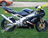ZX6R 636 Motos pour Kawasaki Ninja ZX-6R 03 04 ZX 6R ZX6R Kit de carénage ABS noir 2003 2004 (moulage par injection)