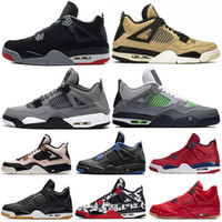 2019 FIBA ​​Gym Bred 4 Basketball Schuhe 4s Cool Grey Mushroom Neon Wings Was die LASER Singles Day Royalty Alternate Mens Sports Sneakers