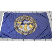 Nebraska Drapeau 3x5ft 150x90cm Impression Drapeau National Polyester du Club Équipe sportive Intérieur Extérieur Avec 2 Œillets en laiton, Livraison gratuite
