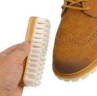 من جلد الغزال حذاء فرش من جلد الغزال الغزال المطاط كريب حذاء فرشاة المنزلية الجلود فرش نظافة مناسبة مناسبة للأحذية عالية الكعب القماش