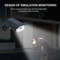 Açık Bahçe Peyzaj Garaj Gat için RIR Hareket Sensörü LED Güneş Duvar lambası Duvar Işık Sahte Bullet Güvenlik Kamerası Şekli Su geçirmez Işıklar