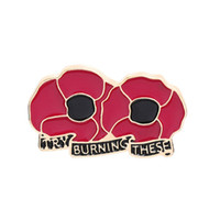 طية صدر السترة دبابيس حمراء دبوس الخشخاش ذكرى الأحد بروش يوم قدامى المحاربين يوم الذكرى زهرة مجوهرات دبابيس الزينة GHN56