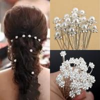 Hochzeit Zubehör Kristall Strass Haarspangen Perle Haarnadeln für Braut Brautjungfer Party Brautschmuck Hairwear Frauen Haarschmuck 40 STÜCKE