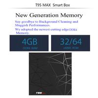 T95 Max Android 9.0 TV Kutusu Allwinner H6 Dört Çekirdekli 4GB / 32GB 2.4GWIFI Akıllı Kutu SW