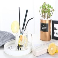 Stainless Steel Drinking Straw Fashion Circulation Use Drinking Straw Set 3 Straws 1Brush 1Box 5 Pieces Set kitchen Accessories WY297Q