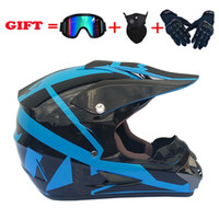Casques de moto 4pcs Set Off Road Motocross Casque ATV Cross Cross Racing Bike Casque avec gants de masque de lunettes