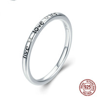 fashion high quality 925 sterling silver ring letters live l...