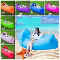 Tragbarer aufblasbares Bett Im Freien Sonnenschutz Sandy Beach Luftmatratze Oxford Wasser Spiele-Schlafsack-Kollektion faule Person 42 3cj N1