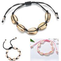 Cauris Perles Shell Bracelet Anklet main plage Bijoux pied Hawaiian Style jamaïcain réglable pour unisexe