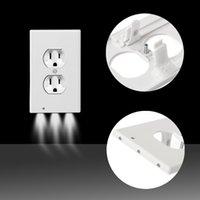 Plug coperchio LED Night Light PIR del sensore di movimento di sicurezza Light Angel presa a muro corridoio camera da letto bagno di notte della lampada