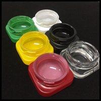 Frasco do concentrado de vidro superior 9ml com estilo quadrado do cubo da tampa resistente à criança para o recipiente da DAB de cera de óleo grosso