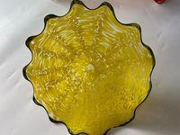 Handmade Свадебных Декоративные стекла Тарелка Сгорела стеклянные пластины для настенных Декоративных ручных выдувных стекла настенных тарелок