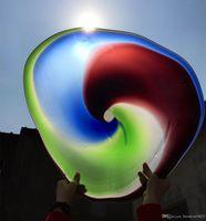 Итальянский стиль Мурано Цветочные стеклянные плиты стены искусств Спираль роскошь 100% ручной взорванные стеклянные висячие плиты