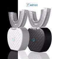 360 Градусов Автоматическая Электрическая Зубная Щетка Аккумуляторная Sonic Зубная Зубная Щетка USB Силиконовая Щетка Зубы Уход За Головами Smart U Тип