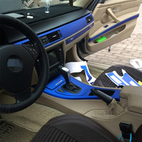لBMW 3 سلسلة E90 E92 2005-2012 الداخلية السيطرة المركزية لوحة مقبض الباب 3D / 5D من ألياف الكربون ملصقات الشارات السيارات التصميم ملحقاتها
