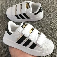 Hot classic baby casual skateboard shoes superstar female sp...