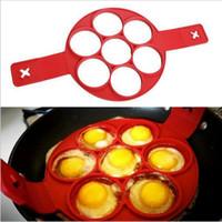 Outils silicone crêpes parfait Omelette Flippin fantastique moule Pancake ronde facile Grips Flip Marque 7 Formes aliments à la fois pour la cuisine