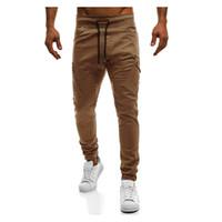 Pantaloni da uomo 2021 Brand Casual Joggers Obliqui Compressione Pocket Uomini Khaki Pantaloni in cotone Calabasas Cargo Mens Leggings 4XL