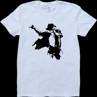 T-Shirt in camiseta con vestiti in denim di Michael Jackson White