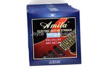 10 مجموعات من أميلا AE100 سلاسل الغيتار الكهربائي 1-6TH جولة النيكل الجرح سلاسل 010-046 شحن مجاني بالجملة