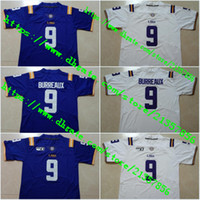 # 9 Burreaux LSU 1918 Silenzioso Stagione 2018 125 # 9 Joe Burrow 150 ° # 1 Ja'Marr Chase # 3 Odell Beckham Jr. # 20 Billy Cannon cucita maglie