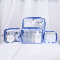 Travel Transparent Cosmetic Bag PVC Women Zipper Clear Makeu...