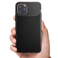 Copertura in fibra di carbonio di lusso Scrub della cassa del telefono di iPhone 11 Anti-sporco TPU telefono per l'iPhone 11 Free Shipping Pro max