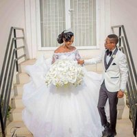 2020 New arrical African Wedding Dresses Ball Gown Off the s...