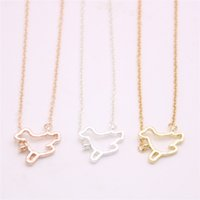 Top sale sea dog pendant necklace Hollow out marine animal p...