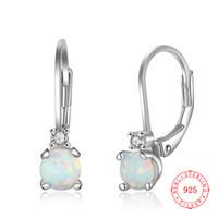 Moda di alta qualità Dangle 925 Sterling Sterling Silver Opal Opal Design Orecchino all'ingrosso da China Factory Bulk Articoli gioielli