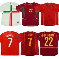 Retro Portuguesa FIGO portoghese Jersey di calcio 1999 2002 2004 2010 camicia di calcio 2012 RONALDO RUI COSTA NANI F.COENTRAO antica maglia