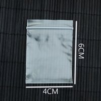 Plastic Bags 4x6cm Mini Clear Zip Zipped Lock Reclosable Pol...