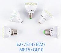 GU10 LED E27 Lampe E27 Spotlight Ampoule 48 60 Soirées Lambara Gu10 Bombillas LED MR16 GU5.3 Lampada Spot Light B22