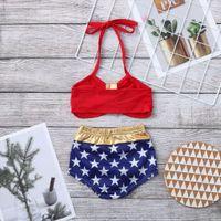 2020 Детский дизайнерская одежда для девочек Купальники Летняя мода Детские плавательные костюмы мягкие удобные дышащие две части установить новый