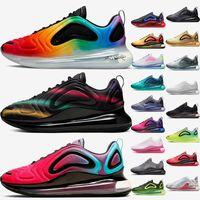 Nike Air Max 720  scarpe Nuove uscite Cuscini da corsa Donna Scarpe da corsa da uomo BETRUE Nero Neon Streaks University Red Blue Forest Designer Sneakers da ginnastica