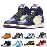 Nike Air Jordan 1 AJ1 Retro Basketballschuhe neuen Mens-1s oben Obsidian UNC Fearless PHANTOM TURBO GREEN 1 Rückwand PHANTOM GYM RED Sportturnschuhtrainer Größe 5,5-12 t41