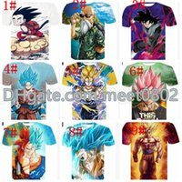 Uomini Dragon Ball T-Shirt Big Boys Dragon Ball Stampa 3d Uomo Supera Tees Z Goku T-Shirt Casual Menshort Sleeve Tee Kka6481