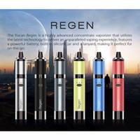 정통 Yocan Regen Kit 1100mAh vape 펜 키트 QTC 코일 왁스 기화기 3.0V-4.V Votage 조정 가능한 6 색