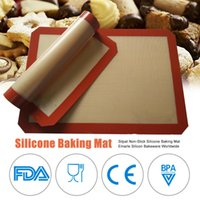 Durable Silicona Pan para hornear Mater MAT Lineras antiadherente Resistente al calor Cocina Bandeja Bandeja Horno Hoja de galletas BBQ