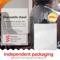 200 Pieces Per Package Disposable Hair Dye Cape Durable Pe W...