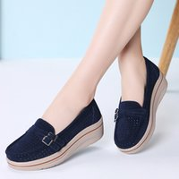 PINSEN 2019 Fashion Summer Flat Platform Women Shoes Genuine...