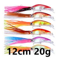 6 Cor 12 centímetros 20g Squid Fishing Hooks anzóis 1/0 # gancho rígido Iscas Lures b-013