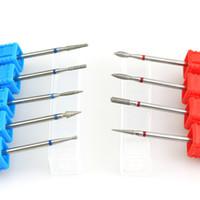 Strumenti 1Pcs diamante Ruota Nail Drill Bit Nail File Burr elettrico manicure macchina Accessori Cuticure Cutter Art