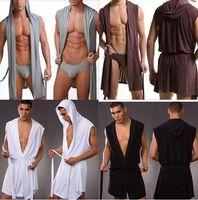 الجملة الرجال مثير ثوب الحمام حمام رداء / ذكر SexySleepwear منامة / الرجال ثوب النوم الجلباب بدون سراويل