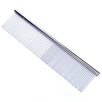 Pet Grooming Comb for Dog Cat Clean Brush Stainless Steel Pe...